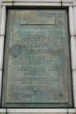 Plaque on Monument